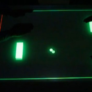 TouchLess Pong & Particles